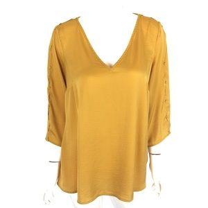 ModCloth Blouse 2X Yellow Mustard